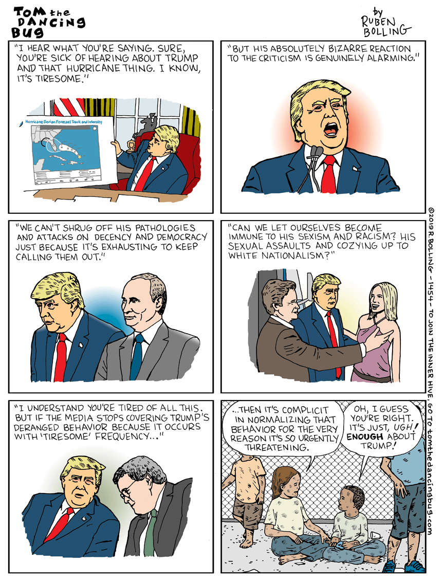 Cartoon: Is Trump's AlabamaGate tiresome yet?