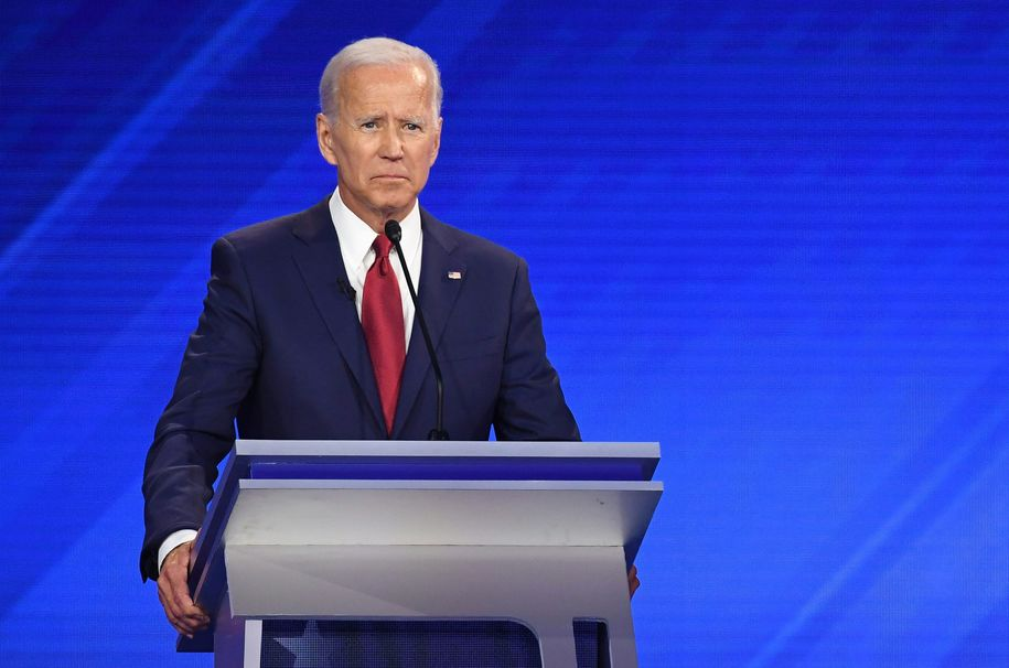 Democratic presidential hopeful Former Vice President Joe Biden speaks during the third Democratic primary debate of the 2020 presidential campaign season hosted by ABC News in partnership with Univision at Texas Southern University in Houston, Texas on September 12, 2019. (Photo by Robyn BECK / AFP) / ALTERNATIVE CROP (Photo credit should read ROBYN BECK/AFP/Getty Images)
