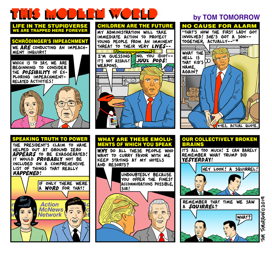 Cartoon: Trapped in the stupidverse