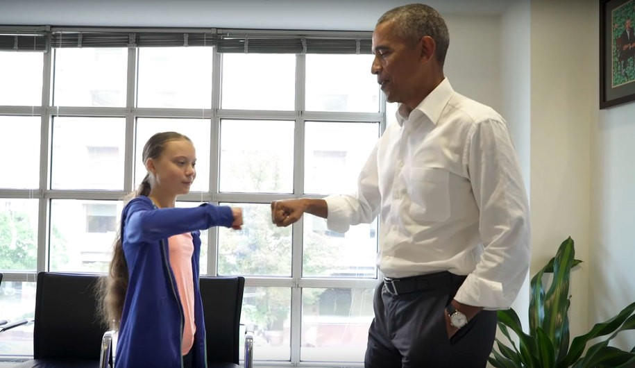 Climate activist Greta Thunberg meets with a real president to discuss climate change