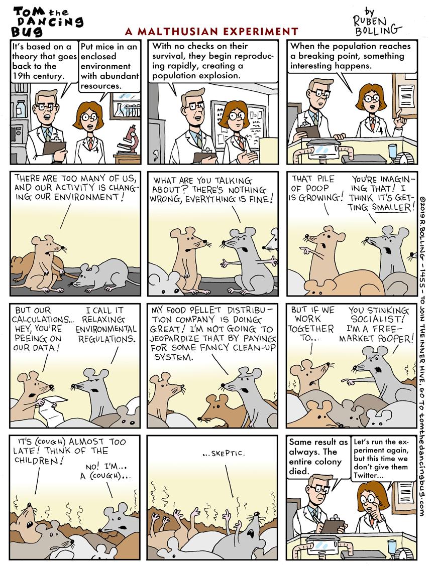 Cartoon: A Malthusian experiment: are we doomed?