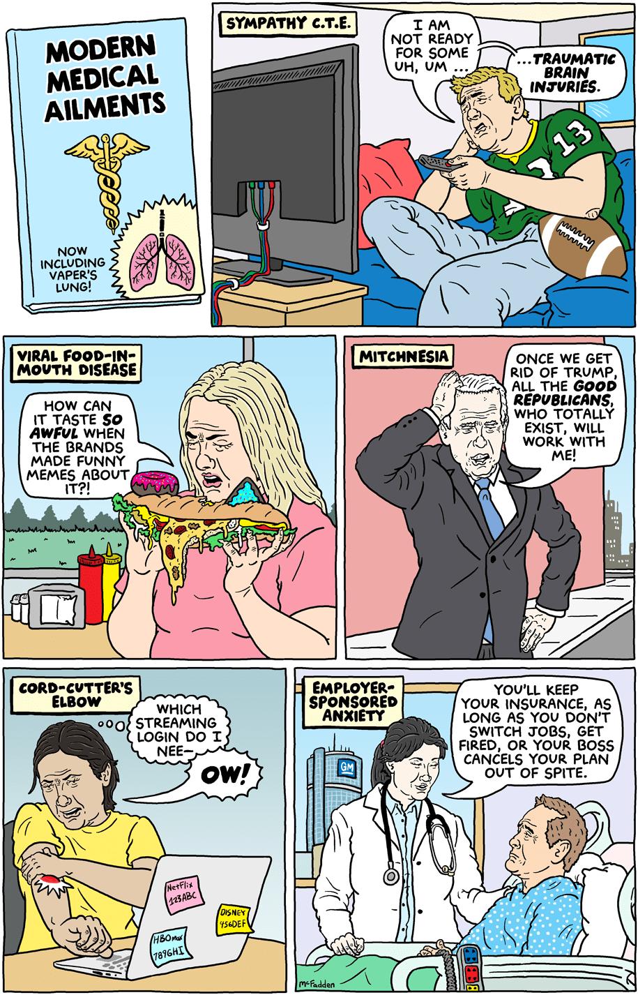 Cartoon: Modern medical ailments
