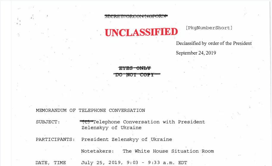 Whistleblower filing: What about that troubling 'promise' Trump made?