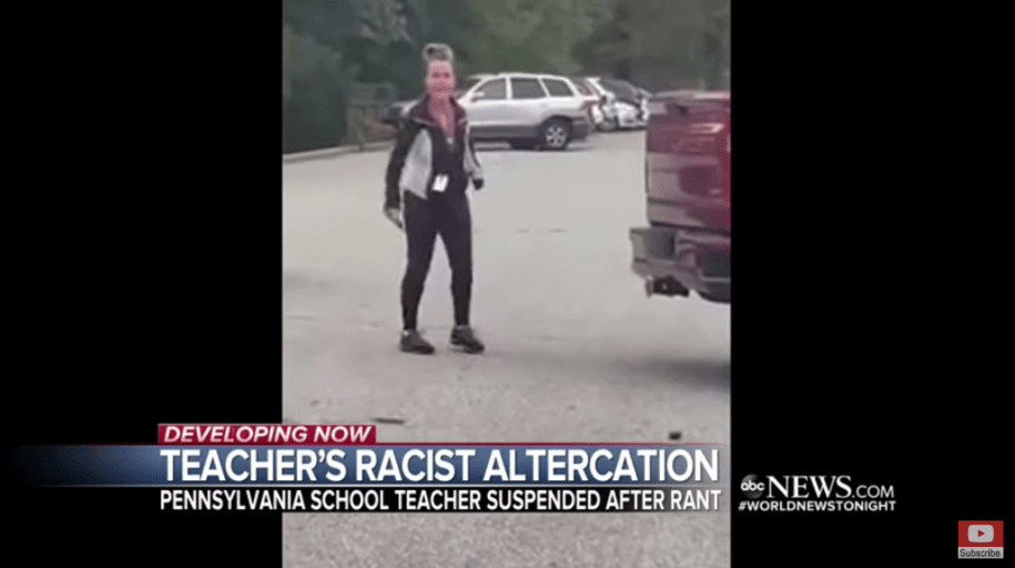 White teacher on leave without pay after parent records racist, homophobic rant in parking lot