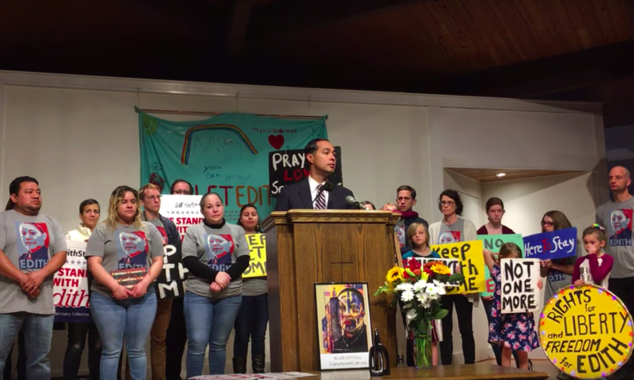 Julián Castro visits Ohio mom who has been in sanctuary for two years after facing deportation