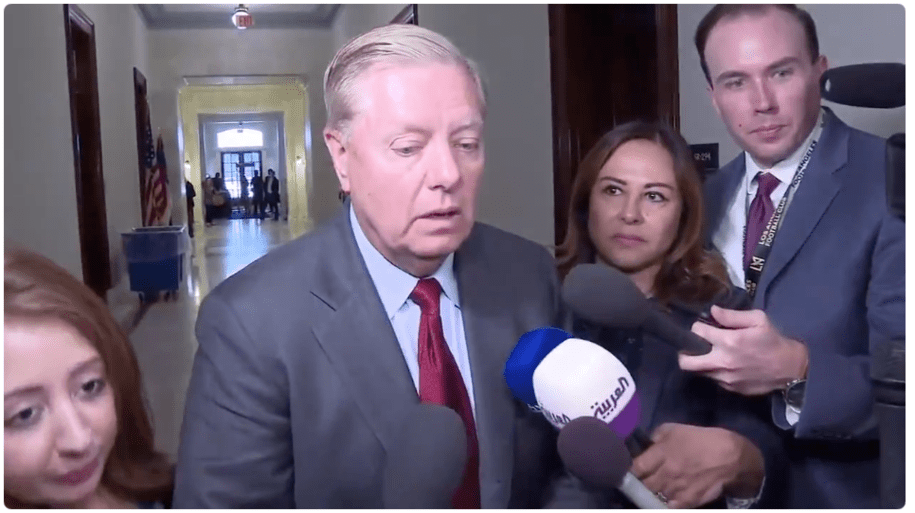 Excuse me, what did Lindsey Graham just say? He seems shook here
