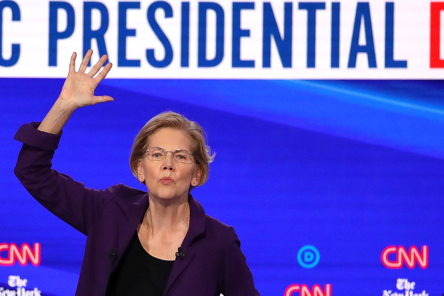 Sen. Warren brings the fire and calls out anyone wavering on taxing billionaires