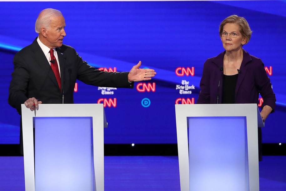 Debate makes it official: Warren's the Democratic frontrunner and taking the attacks that go with it