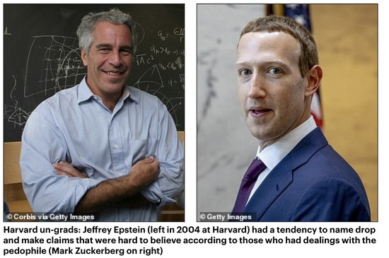 Image result for mark zuckerberg with jeffrey epstein