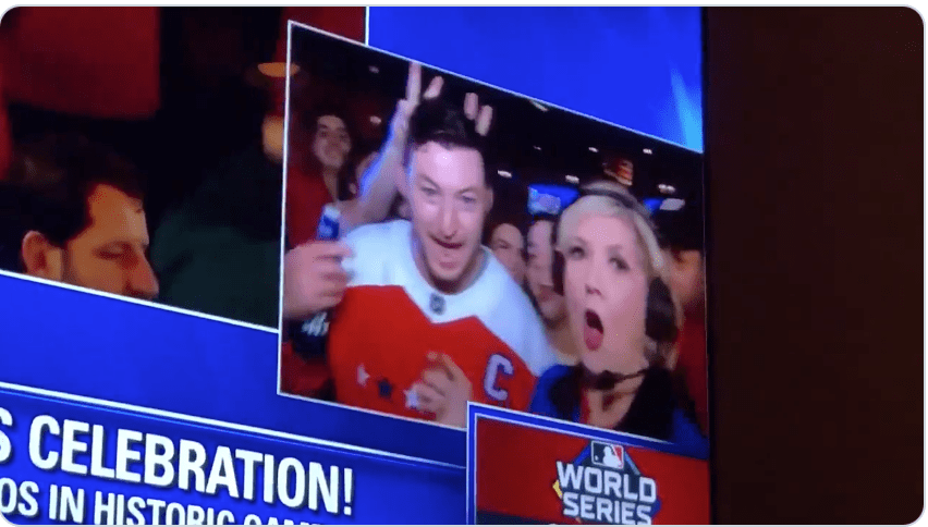 Local D.C. news had to cut away after one now-legendary Nationals fan went full resistance
