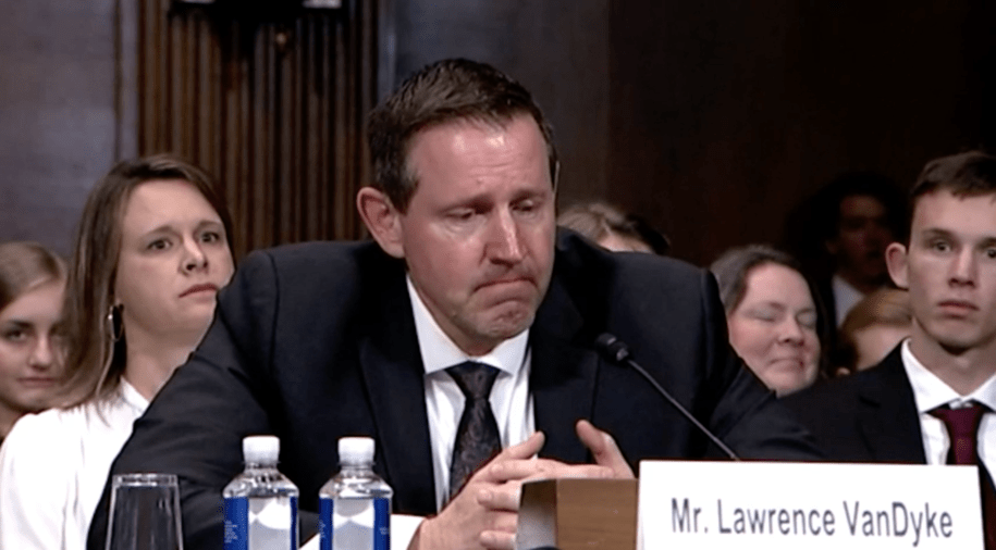 Lawrence VanDyke testifying before the Senate Judiciary Committee, 10/30/2019