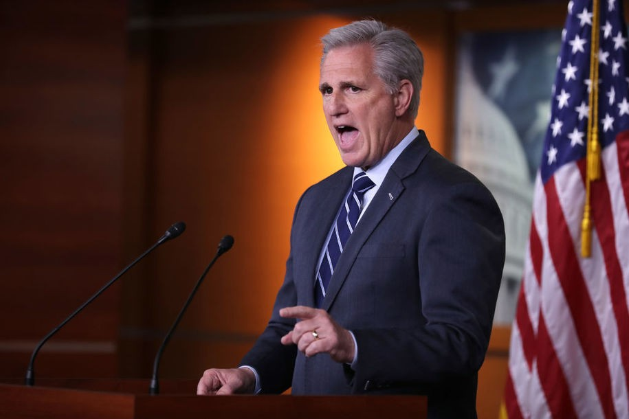 Kevin McCarthy really doesn't want to talk about his 'joke' that Vladimir Putin pays Trump