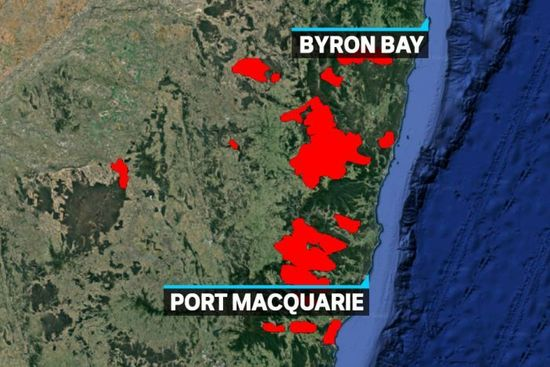 nsw fires map - photo #6