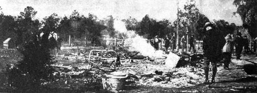 Remains of destroyed home in Rosewood