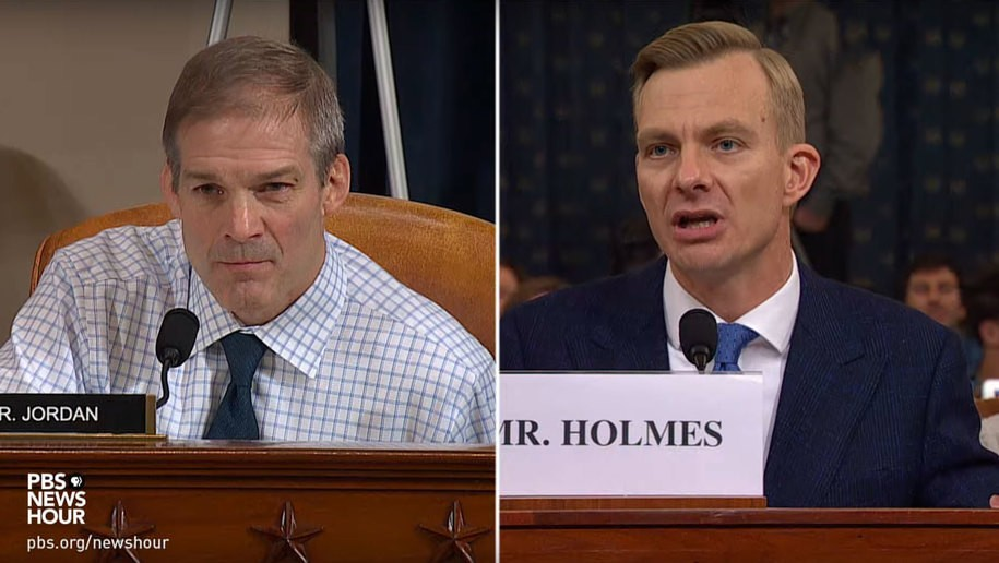 Impeachment witness knocks smirk off Rep. Jordan's face: 'It was obvious' what Trump wanted