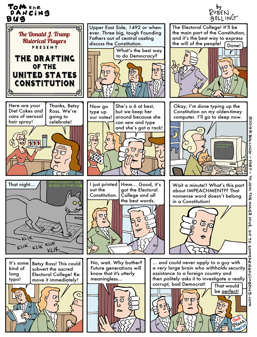 Cartoon: Trump presents 'The drafting of the U.S. Constitution'