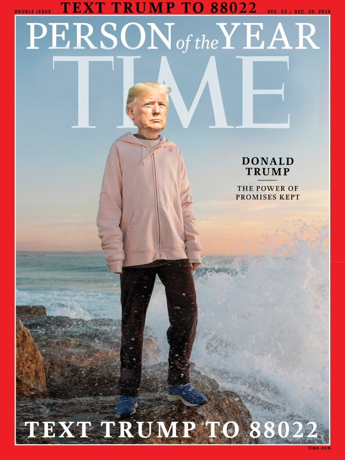 Will Trump be hanging copies of this fake Time magazine cover at his golf resorts