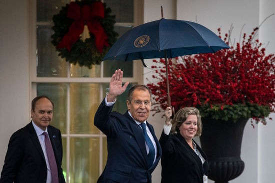 WASHINGTON, DC  DECEMBER 10: Russian Foreign Minister Sergey Lavrov exits the West Wing of the White House following a Oval Office meeting with U.S. President Donald Trump on December 10, 2019 in Washington, DC.  Prior to his White House visit, Lavrov also met with Secretary of State Mike Pompeo at the U.S. State Department. (Photo by Drew Angerer/Getty Images)