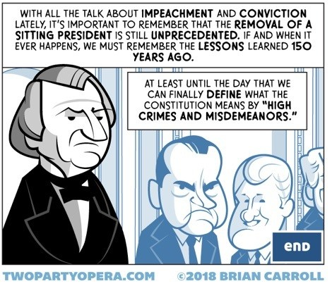 Conclusion to Brian Carroll's series on the impeachment of Andrew Johnson.