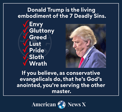 Evangelicals' love affair with Trump will become a long-term poison pill for organized Christianity.