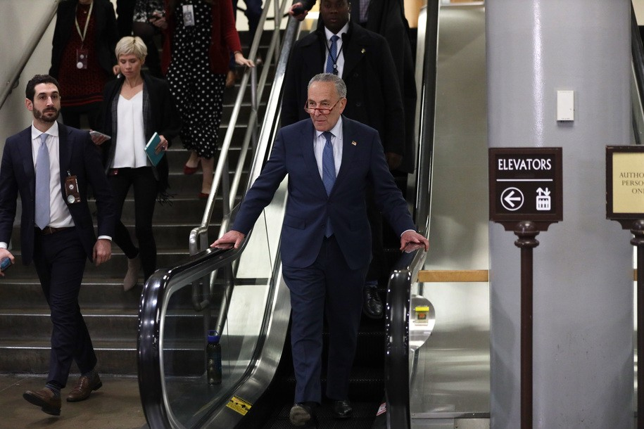 Chuck Schumer and House impeachment managers destroy Team Trump on first night of Senate trial