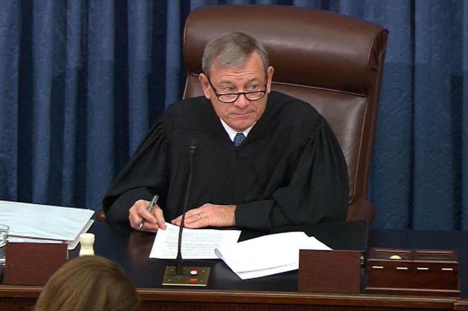 Chief Justice Roberts lets Senate Republicans show blatant disdain for impeachment proceedings