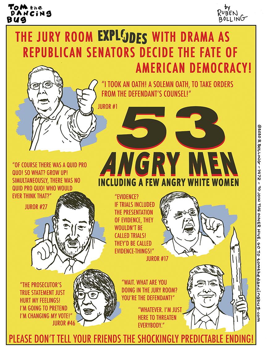 Cartoon: 53 Angry Men!