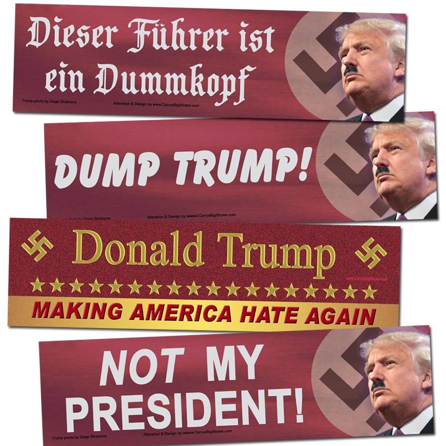 ANTI Trump POLITICAL BUMPER STICKER NOT MY PRESIDENT