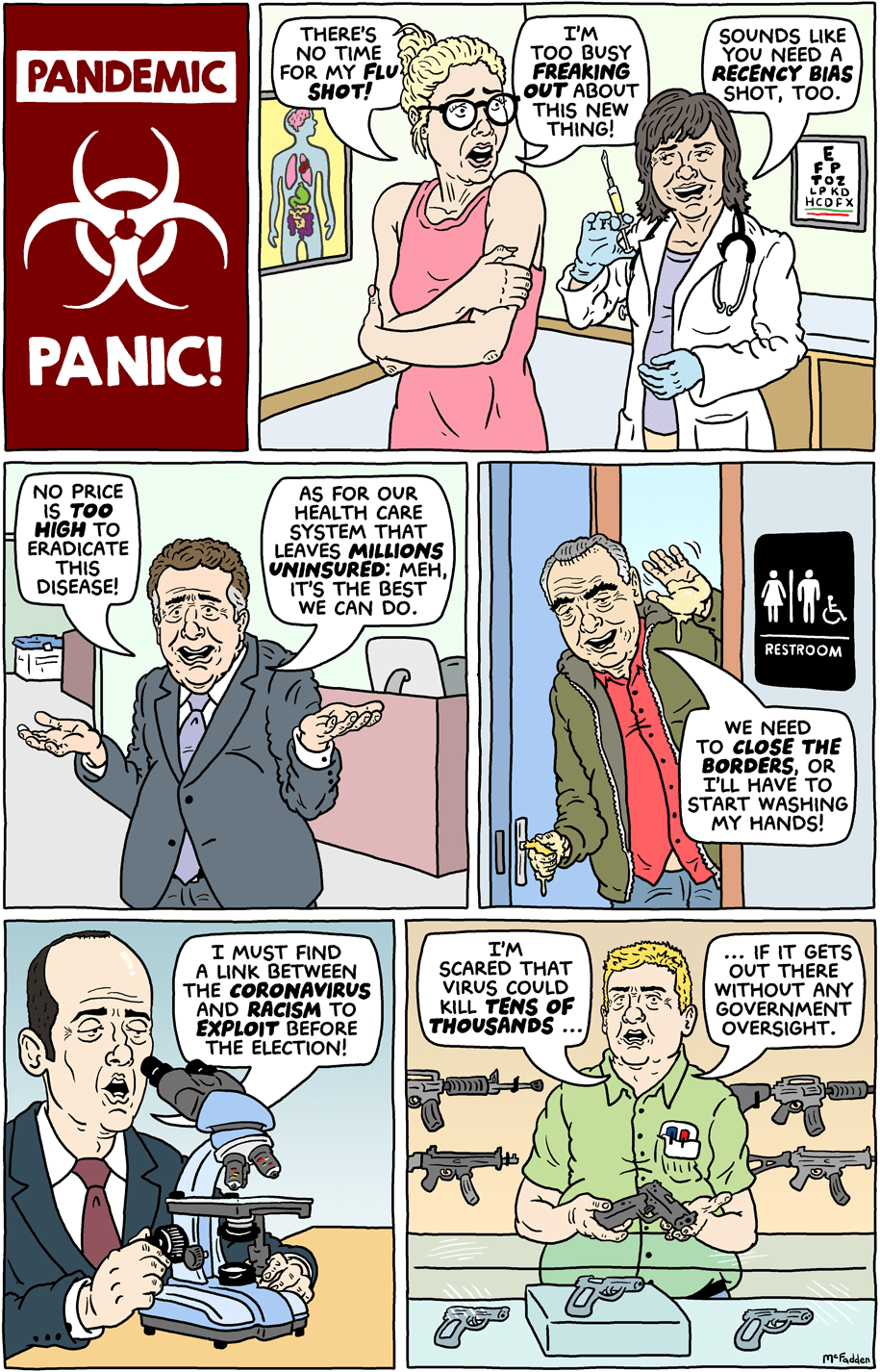Cartoon: Pandemic panic!
