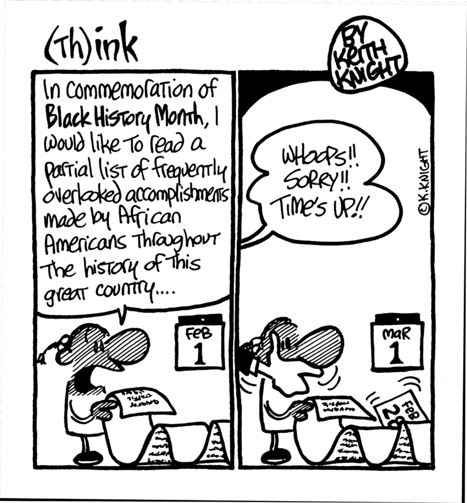 Cartoon: Black History marches on