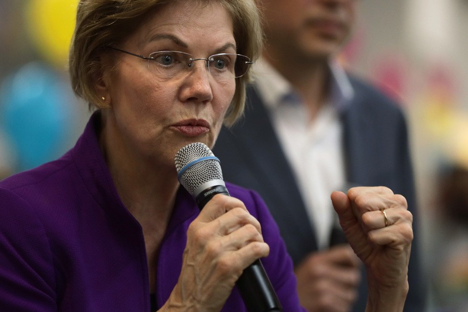 Elizabeth Warren's back in the ring and she ain't looking back