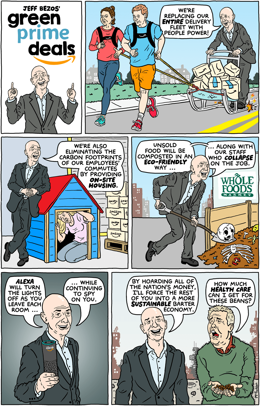 Cartoon: Jeff Bezos' green prime deals
