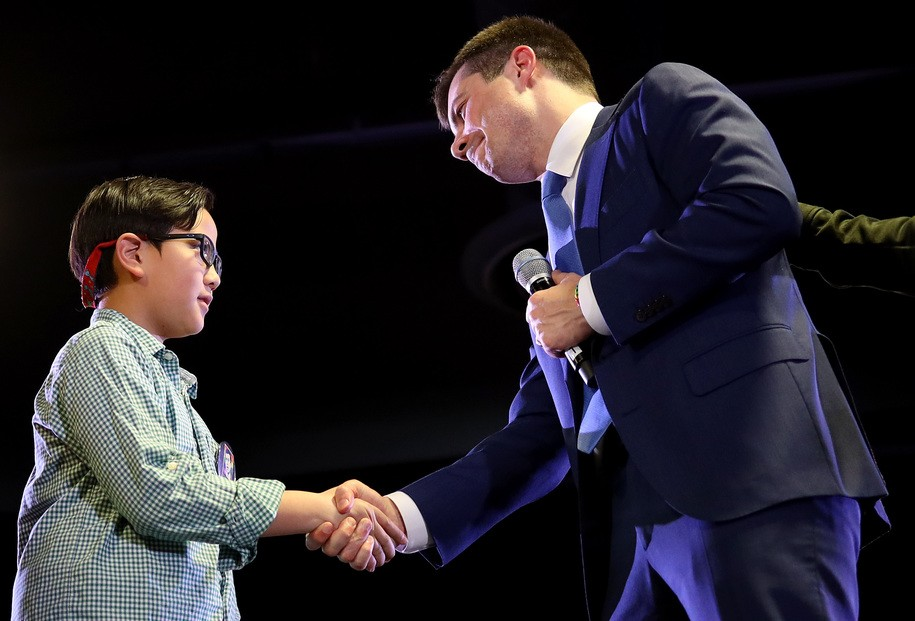 'Thank you for being so brave': Child at rally asks Pete Buttigieg for advice on coming out