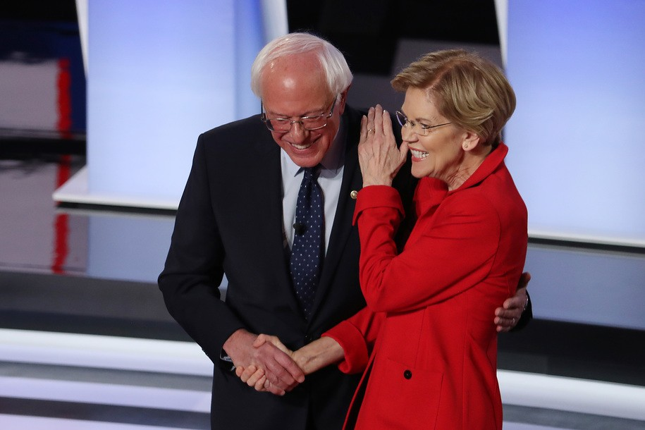 Elizabeth Warren is the only candidate who can stop Bernie Sanders (if that's really your goal)