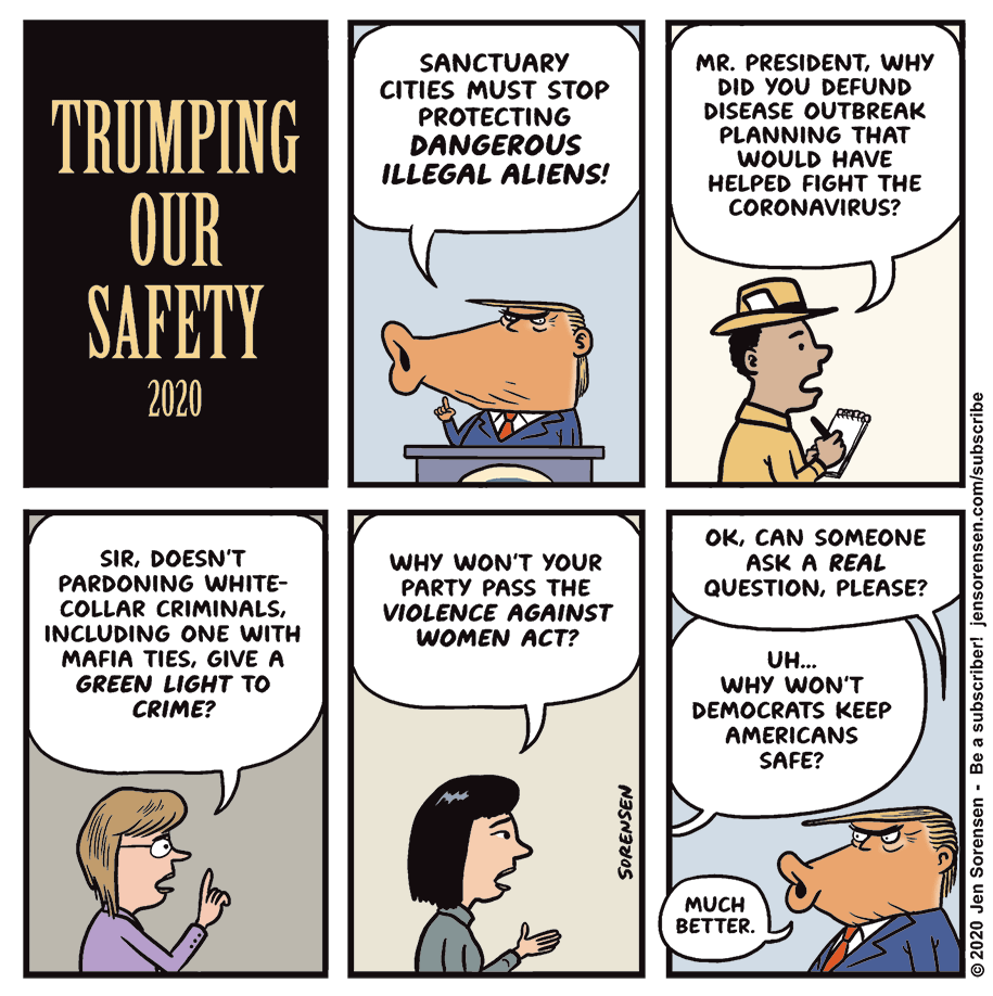 Cartoon: Trumping our safety, 2020
