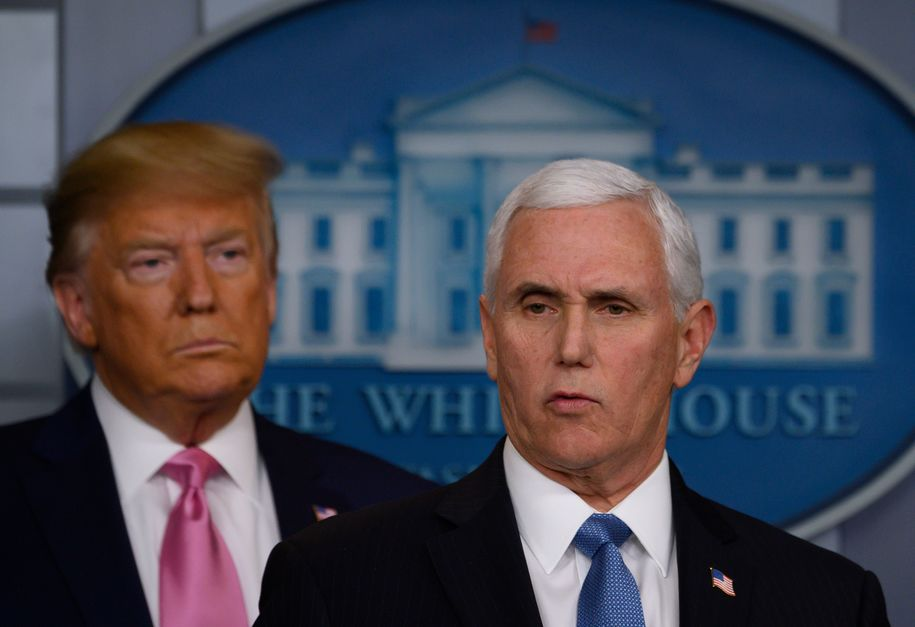 Trump didn't just hand off the coronavirus epidemic to Pence—he lied about the threat to Americans