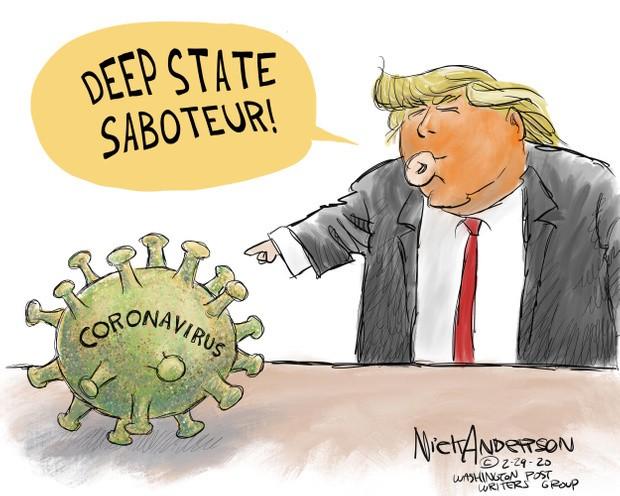 trump blames coronavirus