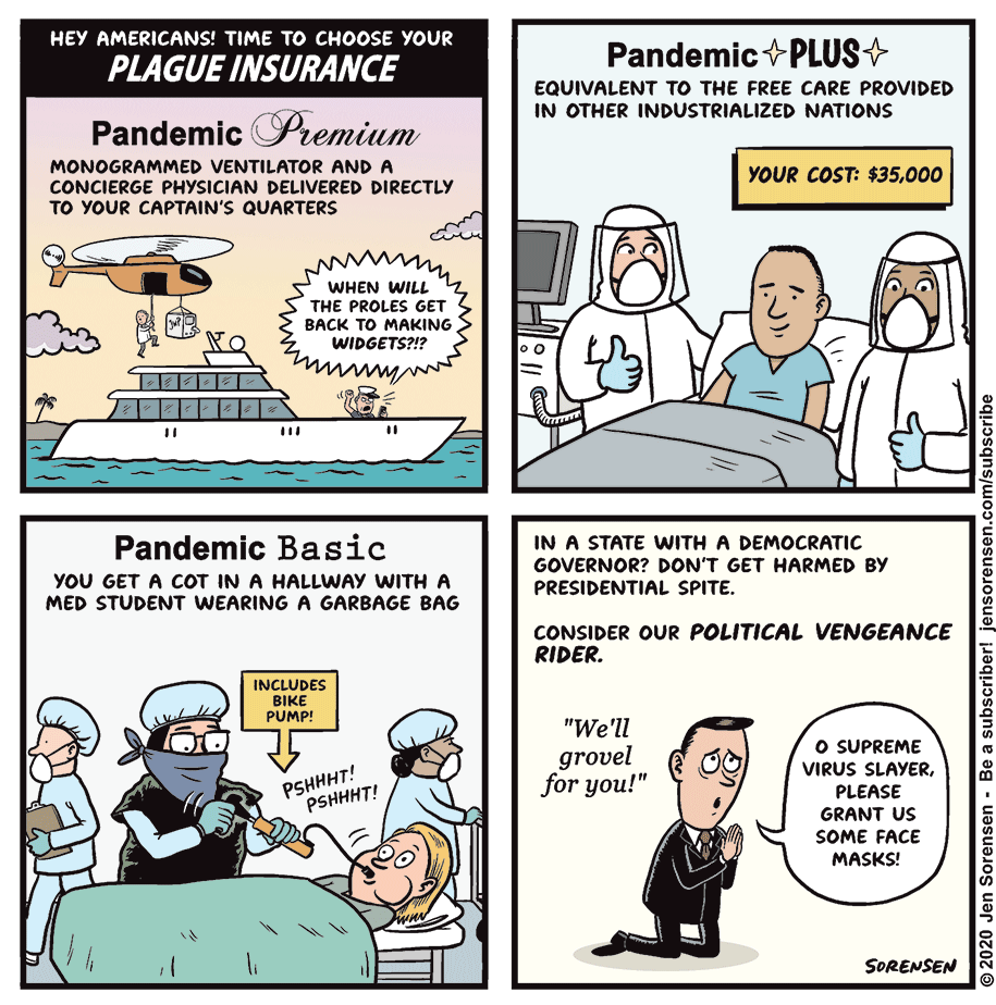 Cartoon: Choose your pandemic plan