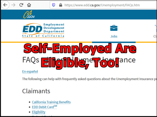 How self-employed should apply for Unemployment Insurance Benefits in  California