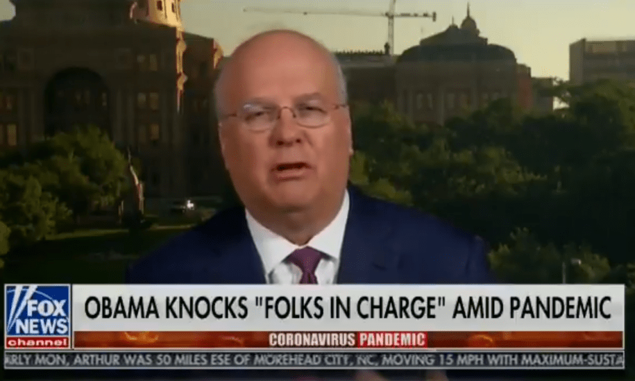 In under a minute, Karl Rove reminds America that Bush was the same terrible Trump is