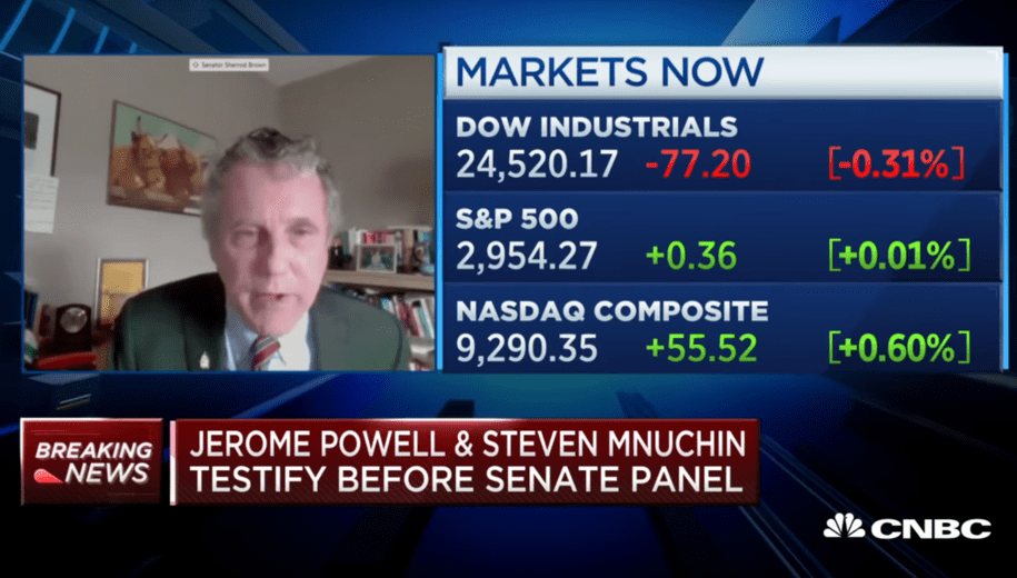 Sen. Brown slams Mnuchin: 'How many workers should give their lives to increase our GDP by 0.5%?'