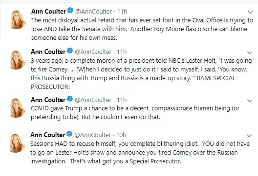 Ann Coulter bails on Trump... what?