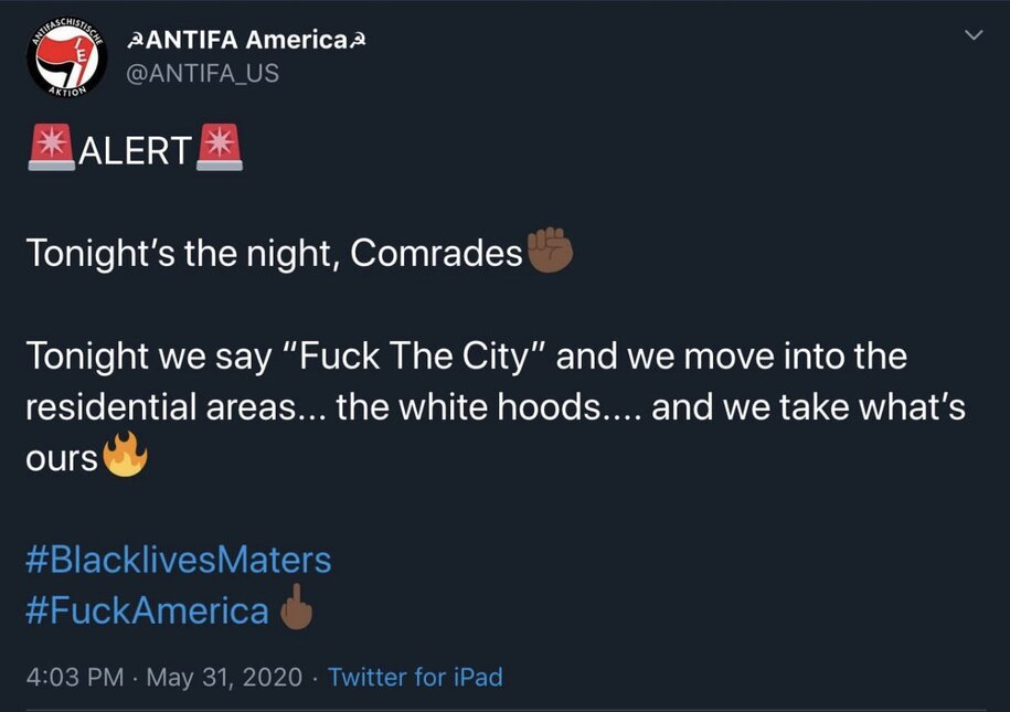 """a duped Trump mentions """"Antifa"""" twice, even as Identity Evropa spoofs them on Twitter."""