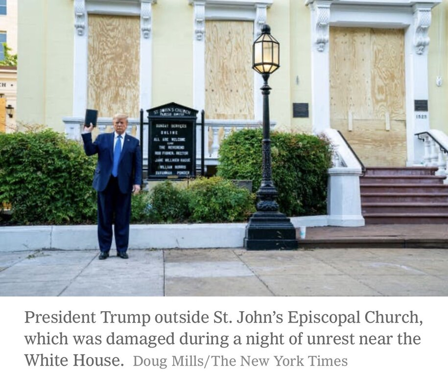 """Now the St John's church photo-op was Ivanka's idea... and Hope Hicks brought """"the visuals"""""""