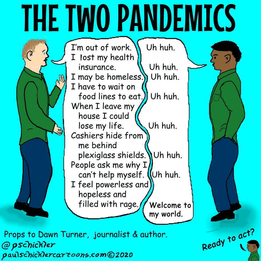 Cartoon: The two pandemics