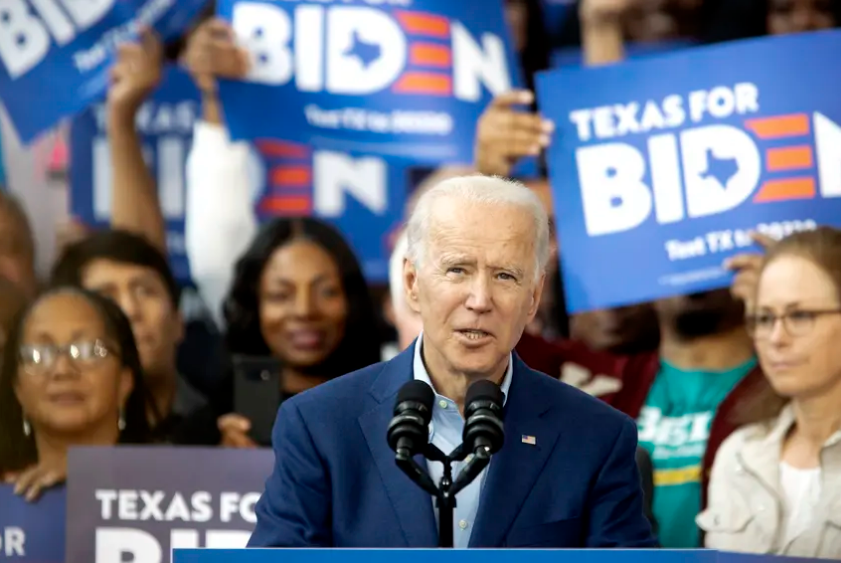 Biden is blowing by Trump in TEXAS....