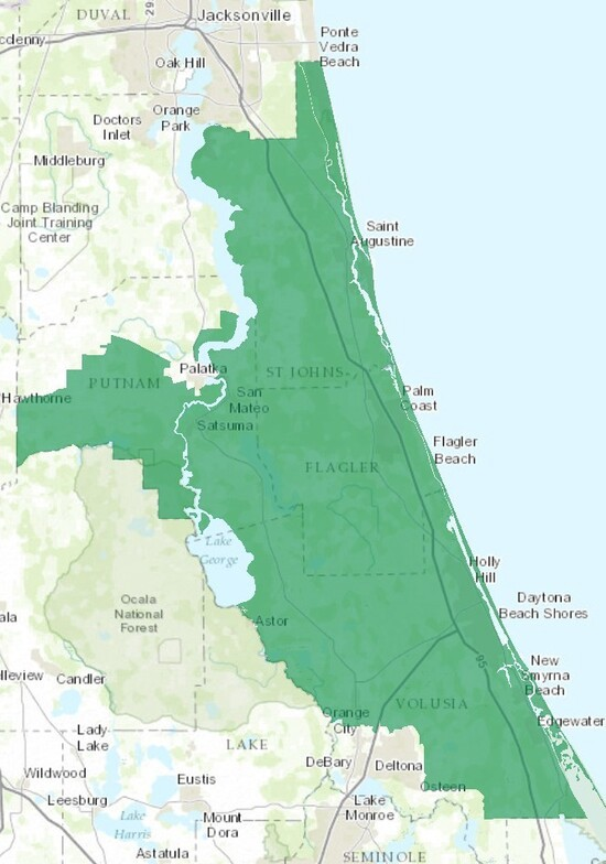 Florida 6th Congressional District Map About the Boundaries of Florida's 6th Congressional District
