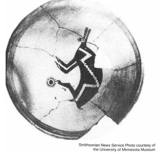 The Mimbres plate that may depict the 1054 supernova