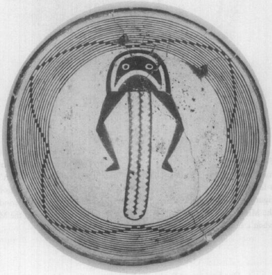 """The """"bug plate"""" showing four lunar cycles"""