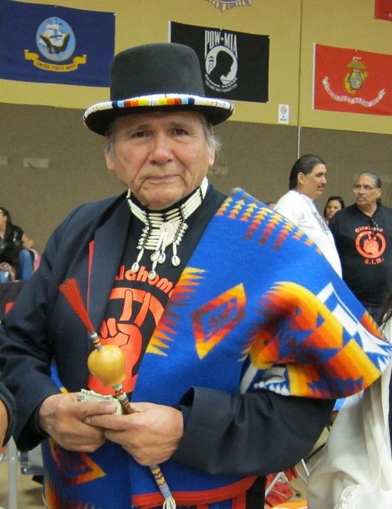 Dennis Banks at the Honor Dance for Carter Camp  in 2013 in White Eagle, Oklahoma